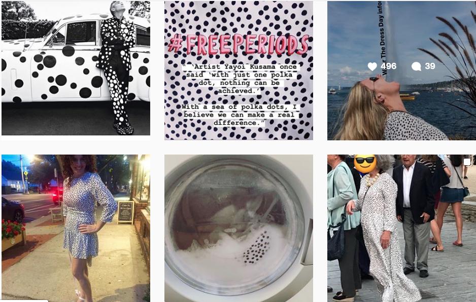 instagram zara polka dot midi dress
