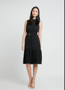 tendenze moda 2019 2020 Polka dot midi dress Mint & Berry - Shoppics.com