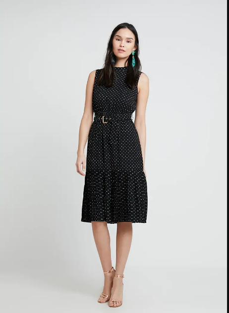 Polka dot midi dress Mint & Berry - Shoppics.com