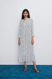 tendenze moda polka dot midi dress Zara - Shoppics.com