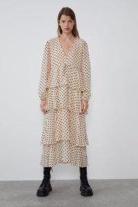 tendenze moda 2019 2020 midi dress polka dot zara - Shoppics.com
